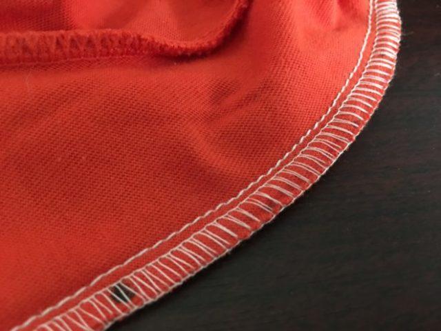 並縫いで補強の写真