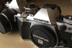 クラシックカメラとOM-D5の写真