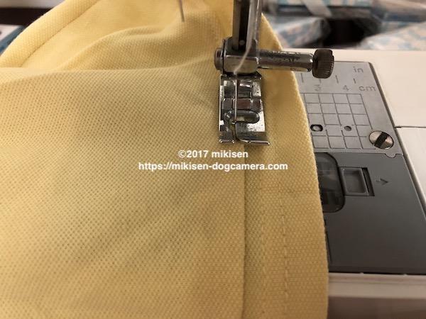 犬服 裾の処理