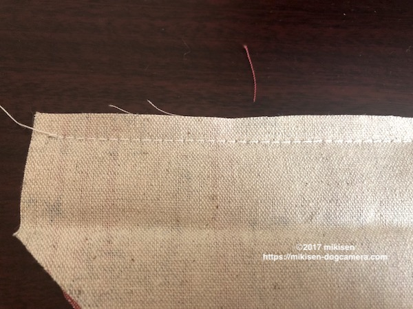 バンダナ縫い合わせ