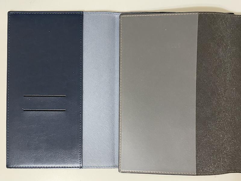 手帳のカバー比較